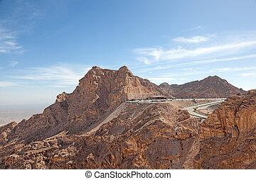 montanhas, emirate, outskirts, al, ain, abu dhabi, hafeet,...