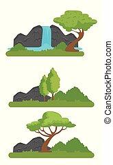 montanhas, fauna, jogo, natureza, rio, reserva