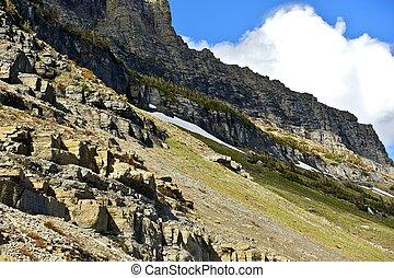 montanhas, montana