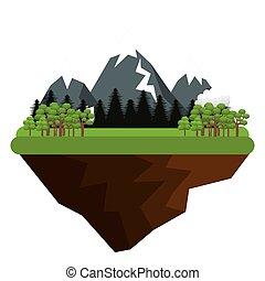 montanhas, natural, paisagem