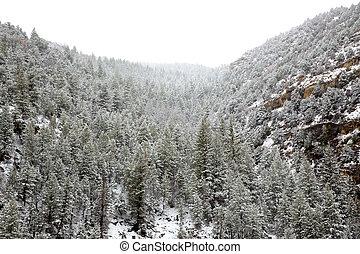 montanhas, nevada, neve, eua, primavera