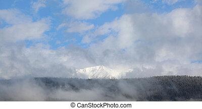 montanhas, northen, itália, inverno, puster, vale