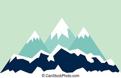 montanhas, paisagem.