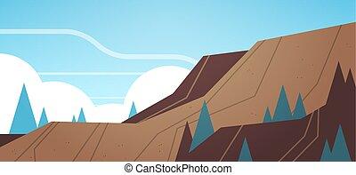 montanhas, pedra, industrial, opencast, pedreira, ...