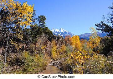 montanhas, sal, la, outono