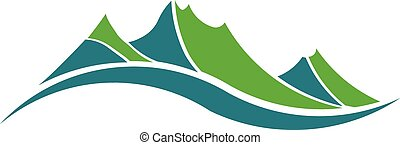 montanhas verdes, logotipo