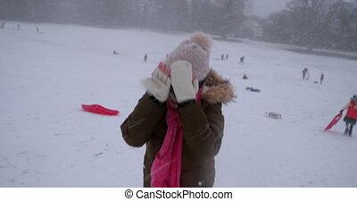 montant, titre, tempête neige