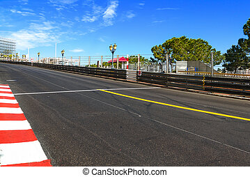 monte, carlo., asphalt, gerade, widmen, prix, rennen, ...