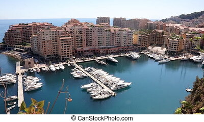 Monte Carlo marina in Fontvieille district of Principality...
