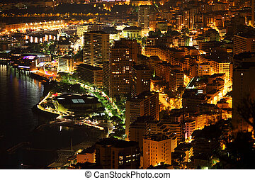 Monte Carlo night scene