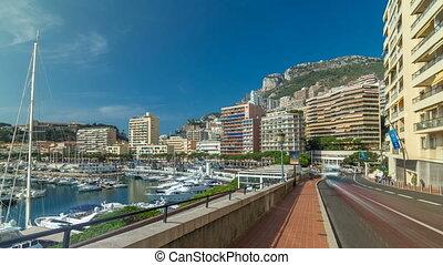 Monte Carlo Port Hercule panorama timelapse hyperlapse. View...