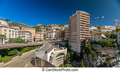 Monte Carlo Railway Station Gare de Monaco timelapse,...