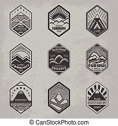 monte, emblema, set1