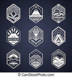 monte, emblema, set1white