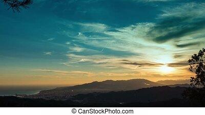 monte, FEHLER, Nacht,  Malaga, Andalusien, Zeit, Tag, Spanien