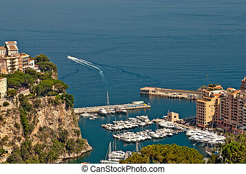 monte, fontvieille, appartements, yachts, carlo, port
