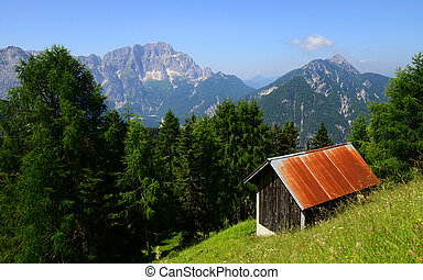 Monte Lussari, Italy - Monte Lussari in alpine region of...