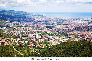 monte, outskirt, barcelona, distritos