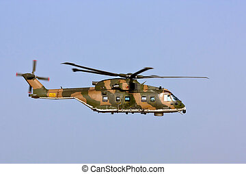 MONTE REAL, PORTUGAL-APRIL 7: Agusta-Westland EH-101 Merlin...