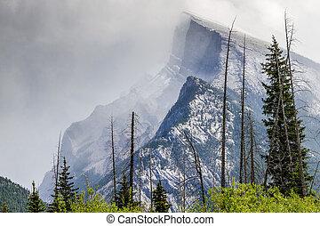 monte, rundle, -, banff parco nazionale, alberta, canada