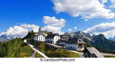 Monte Santo di Lussari - Tarvisio Italy - Panoramic view of...