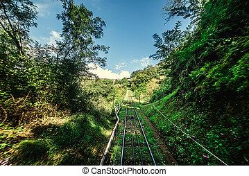 montecatini, carril, funicular