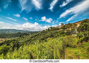 Montecatini under a blue sky