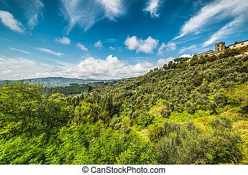 Montecatini under clouds