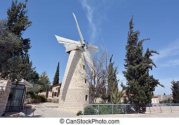 Montefiore Windmill in Jerusalem Israel