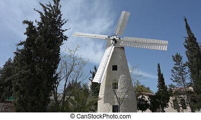 Montefiore Windmill in Jerusalem Israel - Montefiore...