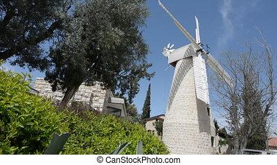 Montefiore Windmill in Jerusalem, Israel.