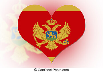 Montenegrin Flag heart - Montenegrin Flag in the shape of a...