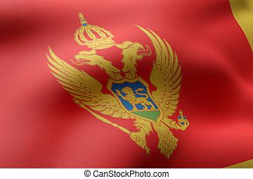 Montenegro 3d flag
