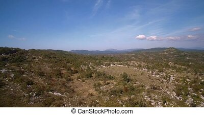 Montenegro, ackerland, Luftaufnahmen, Bäume, Büsche
