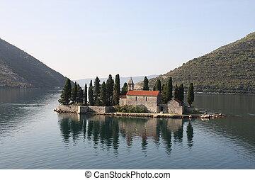montenegro, adriático, sea., kotor