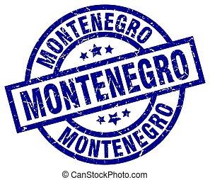Montenegro blue round grunge stamp