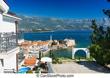 montenegro, budva, oude stad