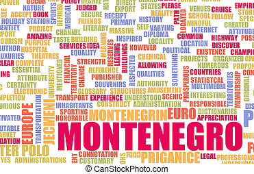 Montenegro as a Country Abstract Art Concept