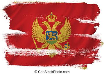 Montenegro flag backdrop background texture.