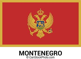 Montenegro flag design vector
