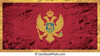 Montenegro flag Grunge background. Vector illustration Eps...