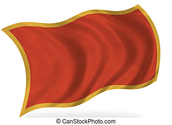 Montenegro flag, isolated