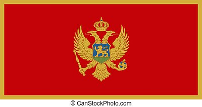 Montenegro Flag - Montenegro national flag. Illustration on...