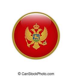 Montenegro flag on button
