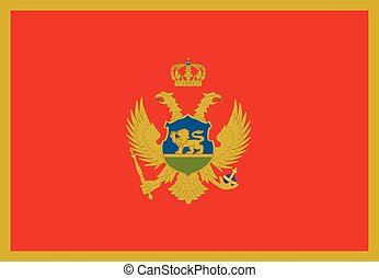 Montenegro flag vector icon isolated on white background....