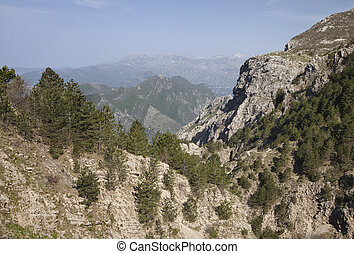 Montenegro mountains in summer