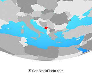 Montenegro on globe