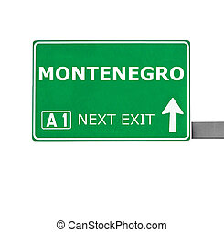 MONTENEGRO road sign isolated on white