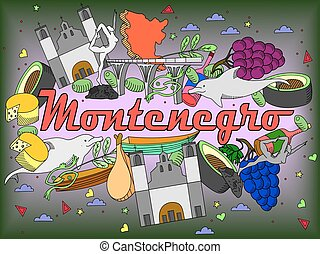 Montenegro vector illustration