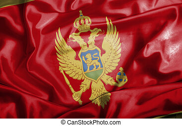 Montenegro waving flag